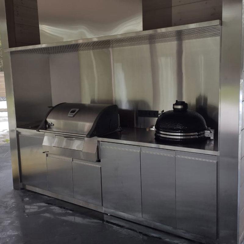 Уличная кухня из нержавеющей стали